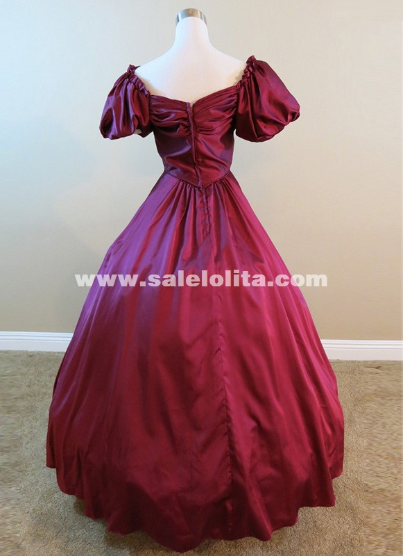 New High Quality Red Victorian Dresses Southern Belle Christmas Princess Ball Gowns Reenactment Theatrical Costumes