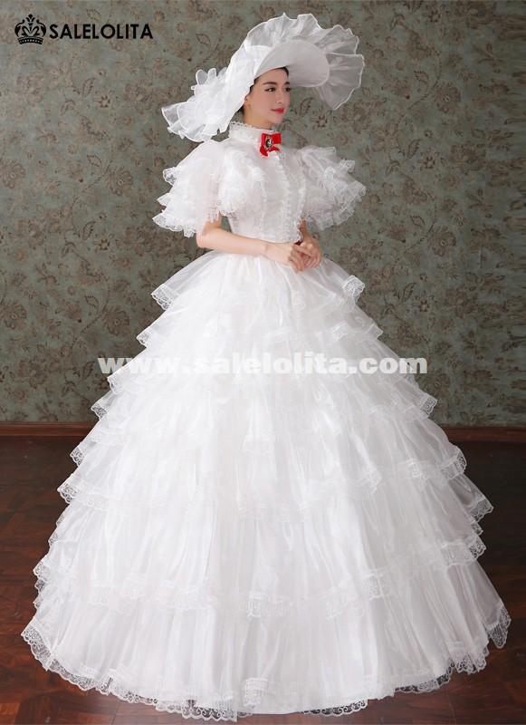 Brand New White Marie Antoinette Renaissance Princess Wedding