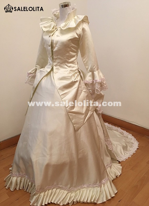 Caroline Era Carnivale Ball Gown Dress Queen Elizabeth Masquerade Costumes Victorian Bustle Princess Wedding Historical Gowns & Caroline Era Carnivale Ball Gown Dress Queen Elizabeth Masquerade ...