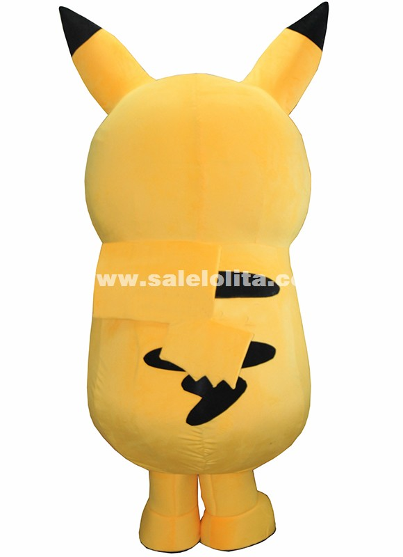 Pokemon Pikachu Mascot Costume Cartoon Character Costume Fancy Dress Outfit Party Suit