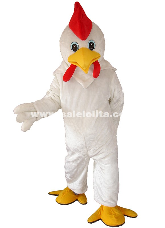Christmas Carnival High Quality New Design White Duck Mascot Costumes Adult Festival Special Chicken Cartoon Clothing