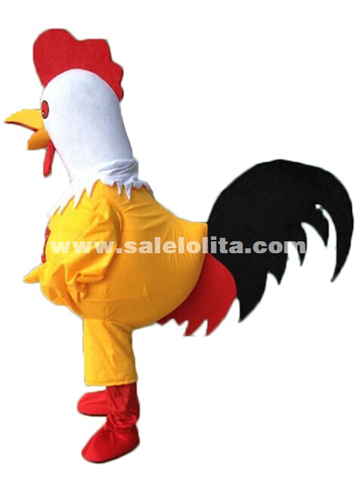 Adult Rooster Mascot Costume Rooster Cartoon Cosplay Costume Christmas Party Costume Chicken Parade Costume