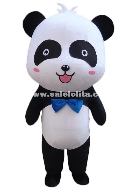cute big head panda mascot costume chinese panda cartoon character