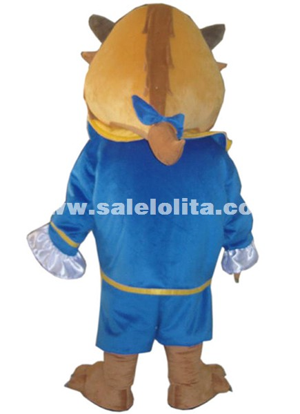 Adult Beast From Beauty and the Beast Mascot Costume Halloween Costume Parade Costume Fluffy Mascot Costume