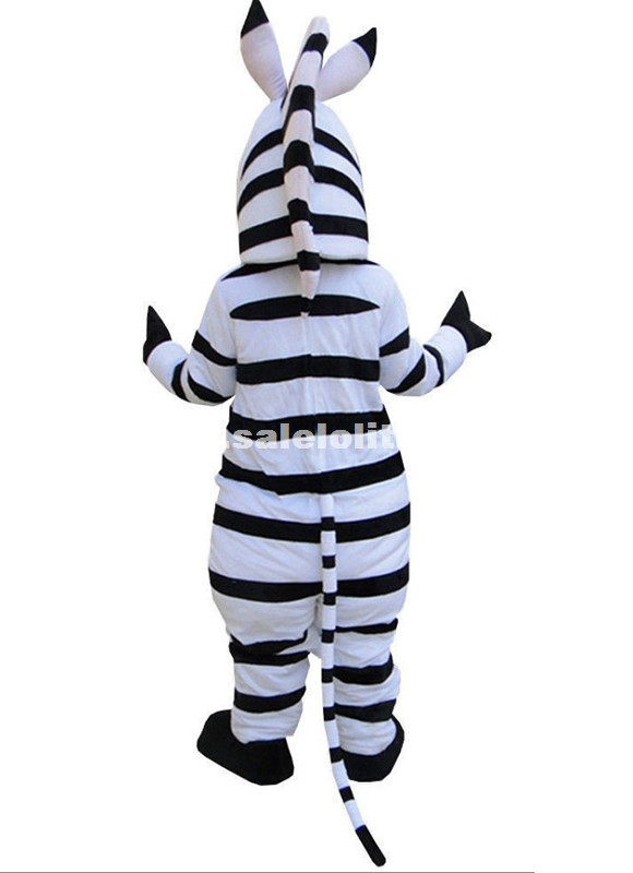 High Quality Fluffy Zebra Mascot Costume Horse Cartoon Costume Festival Carnival Parade Costume