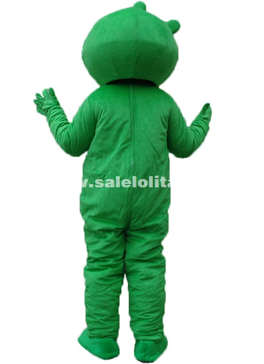 Adult Character Costume Green Pig Festival Carnival Party Costume Pig Mascot Costume