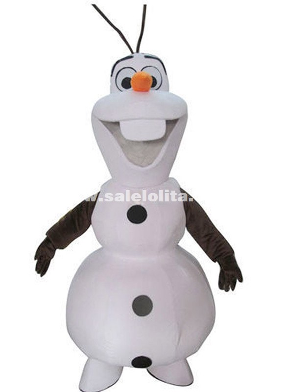 Smile Olaf Mascot Costume Adult Cartoon Walking Cosplay Custom Clothing