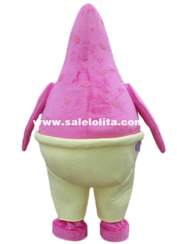 Walking Disguise Custom New Pink Patrick Star Mascot Costumes Patrick Cartoon Fluffy Costumes