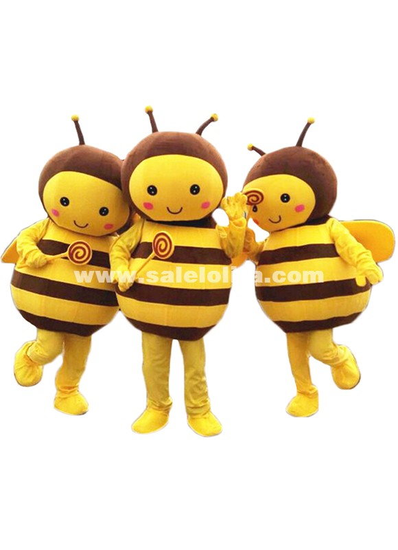 Cosplay Bee Mascot Costume Adult Size High Quality Plush Cloth Production