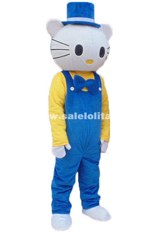 Mr Hello Kitty Mascot Costume Adult Size Blue Hello Kitty Mascot Costume Adult Mascot Costume