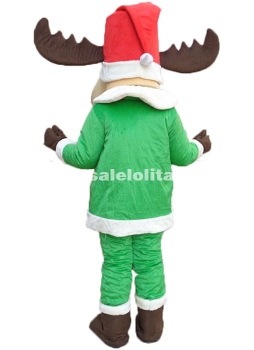 Cute Christmas Deer Mascot Costume Cartoon Deer Party Carnival Costume Outfits