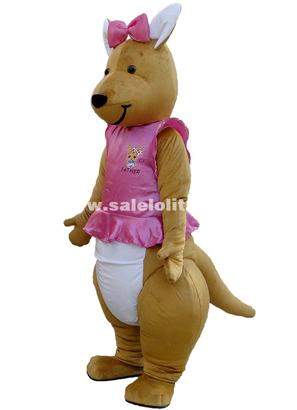 Miss Kangaroo Cartoon Character Costumes Kangaroo Mascot Costume