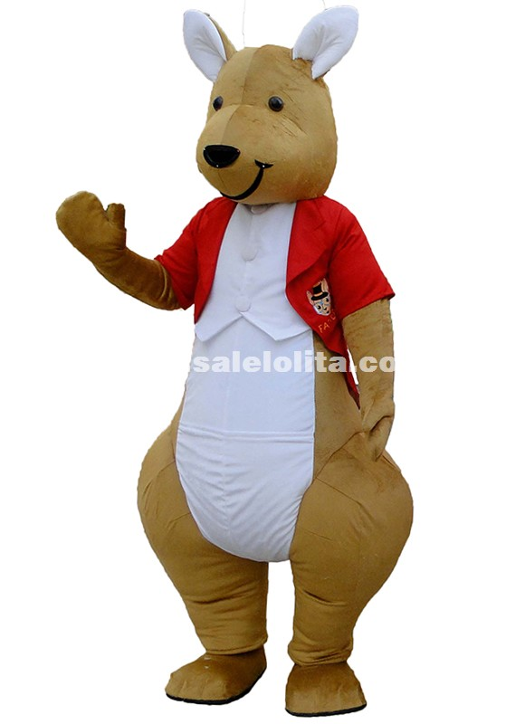 Mr Kangaroo Cartoon Character Costumes Gentleman Kangaroo Mascot Costume
