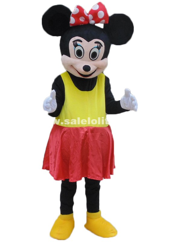 New Minnie Mouse Mascot Costume Mouse Plush Parade Costume