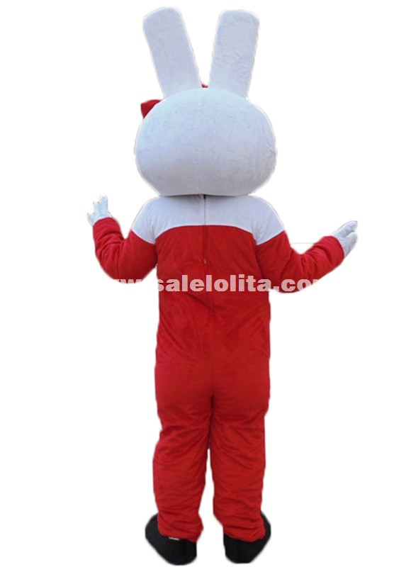 Cute Red Hello Kitty Plush Cartoon Character Costume Cat Mascot Costume