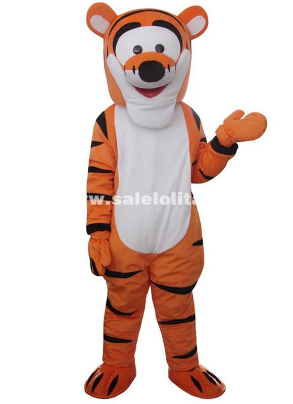 high quality tigger mascot costume christmas tiger adult size halloween costume