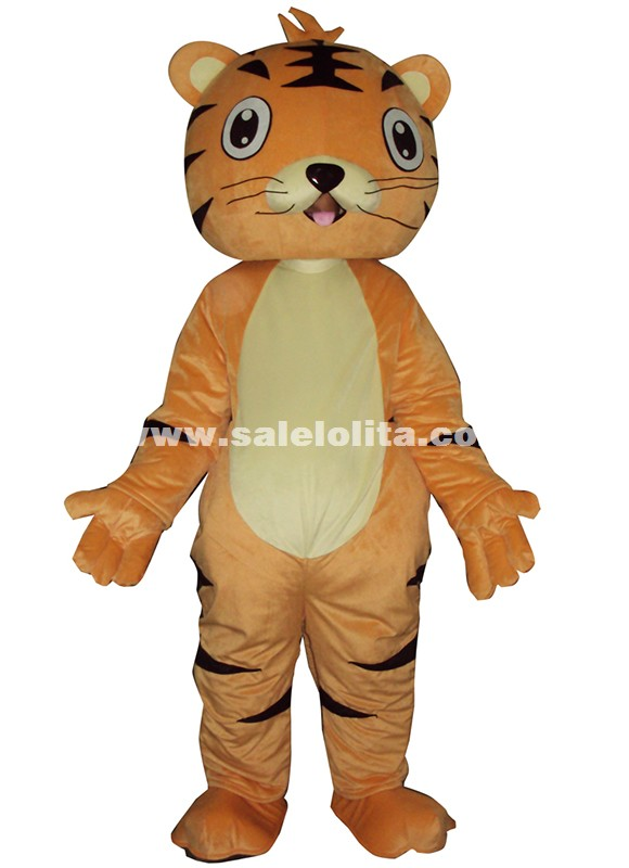 Adult Tiger Mascot Cartoon Costume Birthday Party Costume Christmas Tiger Plush Parade Costume