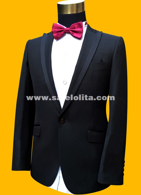 Slim Fit Suits Plus Size Mens Black Wedding Suits With Pants ...