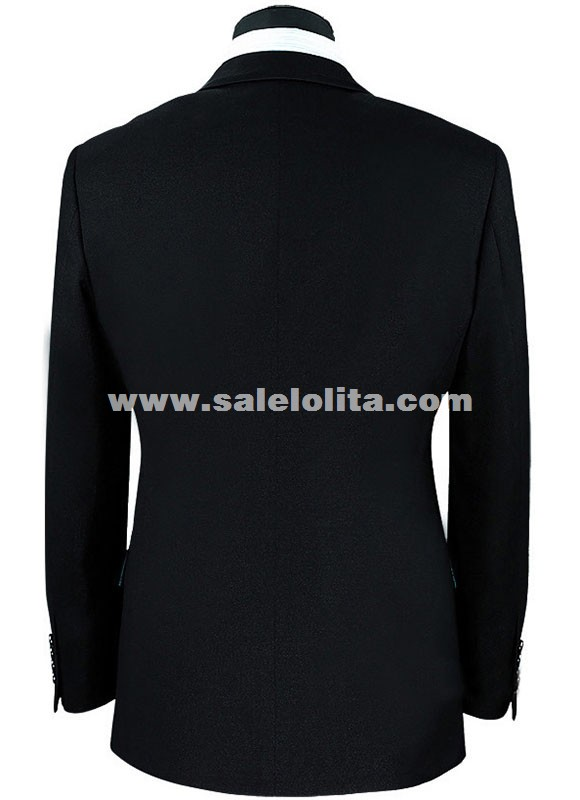 Suits Sequins Peacock Pattern Jacket/Pants Slim Black/Blue Paillette ...