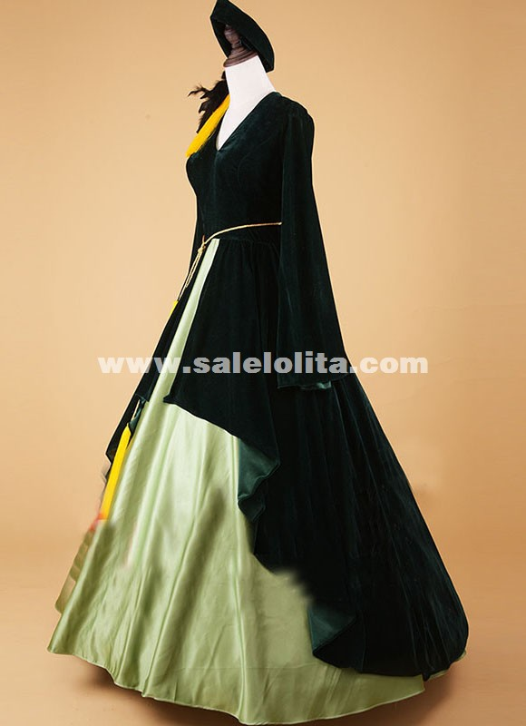Civil War Southern Belle Ball Gown Dress Reenactment Clothing Military Officer Riding Habit Theatre Costume