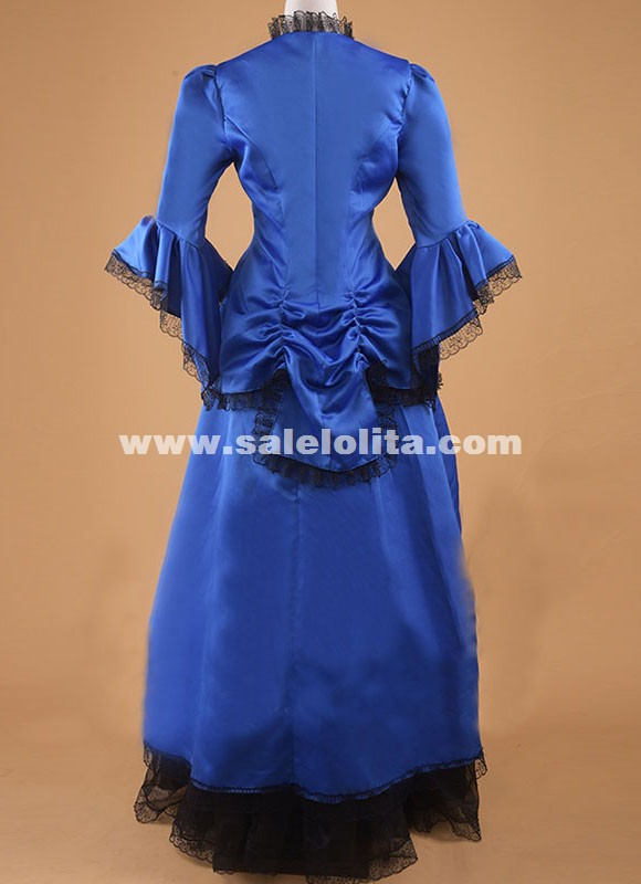 High Quality Edwardian Titanic Victorian Romantic Vintage Maxi Christmas Dress Gown Theater Costume