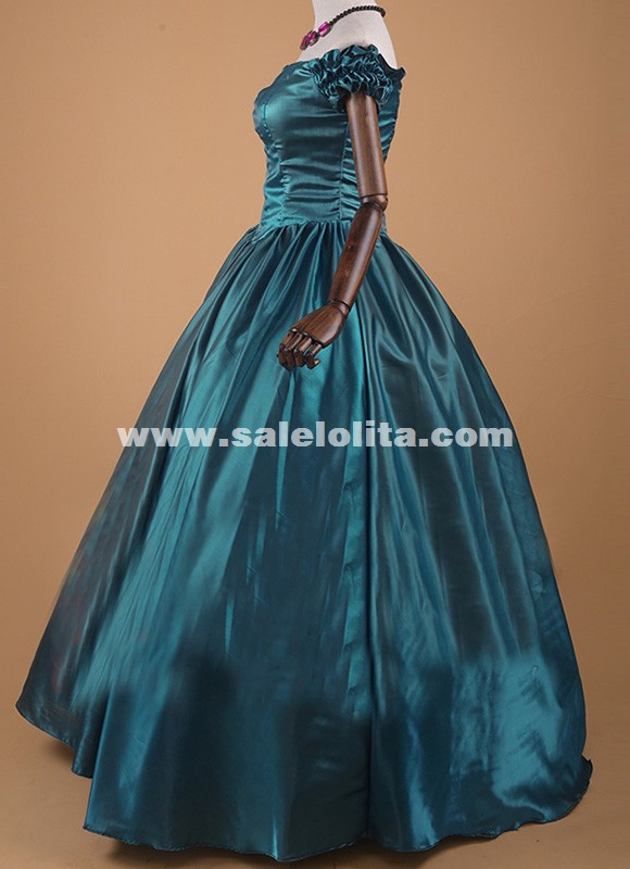 Southern Belle Victorian Wedding Dress Bridal Gown Cinderella Princess Theater Costume