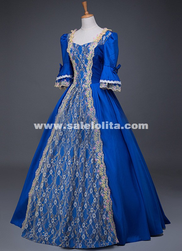 18th Century Historical Dresses Marie Antoinette Rococo Gown Carnivale Theatre Performance Costume
