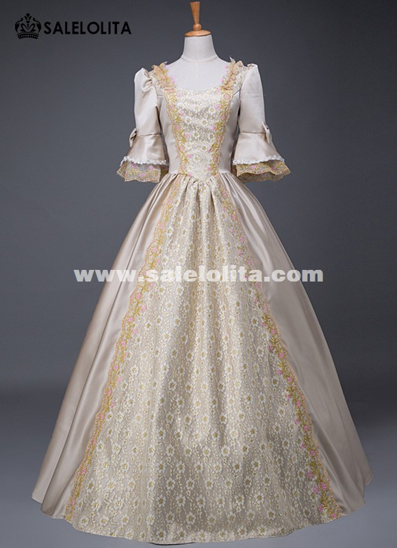 Upscale Medieval Wedding Costume Victorian Marie Antoinette Masquerade Ball Gown Dress