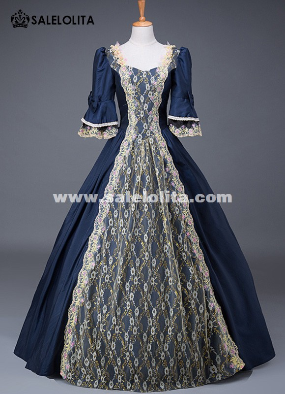 17th Century Historical Theatre Performance Gown Medieval