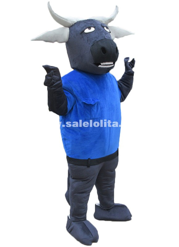 Zootropolis Cape Buffalo Mascot Costumes Chief Bogo Buffalo Fluffy Plush Costume Parade Costume