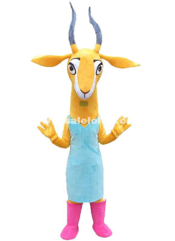 Zootopia Gazelle Mascot Costume Christmas Fluffy Parade Costume