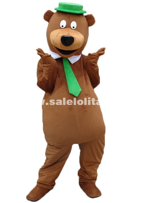adult halloween party costume yogi bear cartoon mascot costume bear plush costume