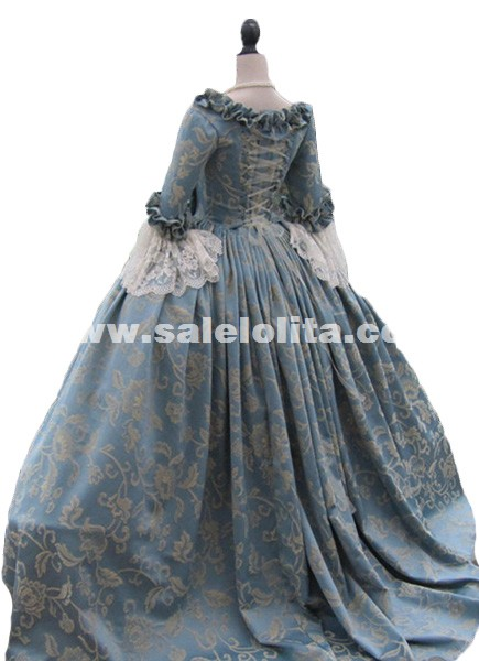 Colonial Georgian 18thc Marie Antoinette Day Court Gown Dress Rococo and Carnivale Gowns Steampunk Victorian Dress