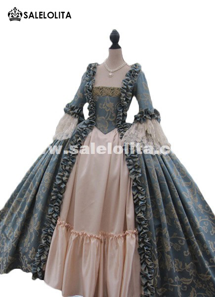Colonial Georgian 18thc Marie Antoinette Day Court Gown Dress Rococo ...