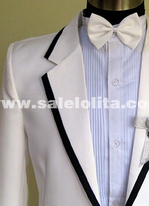 Men's Suits White Groom Tuxedos Performance Clothing Wedding Party Prom Blazer