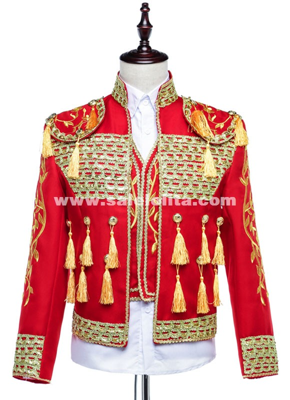 Classic Royal Men Suit Wedding Bridegroom Suit Red/Blue/Black/White