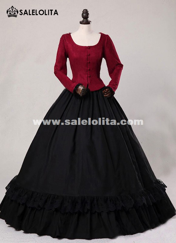 Victorian Civil War Gothic Period Dress Steampunk Theater Clothing