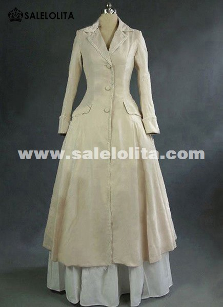 Victorian Edwardian Downton Abbey Steampunk Titanic Frock Coat Dress Reenactment Costume