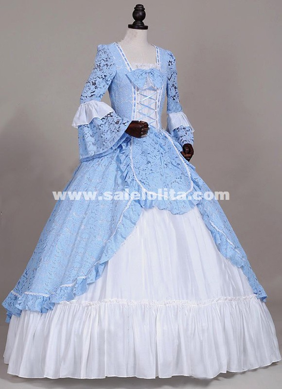 Renaissance American Revolution Lace Prom Dress Ball Gown Theater Reenactment Costume