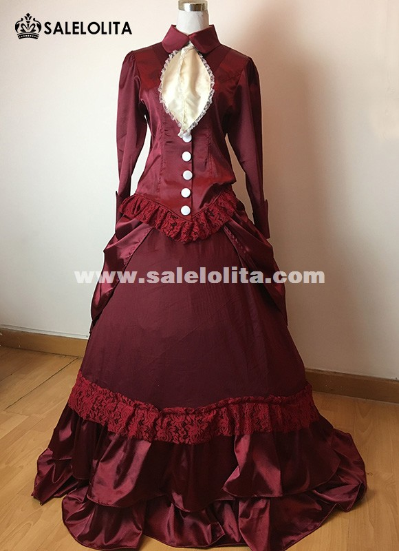 1860S Civil War Gothic lolita Princess Dress/Victorian dresses/Renaissance dress Vintage Costumes