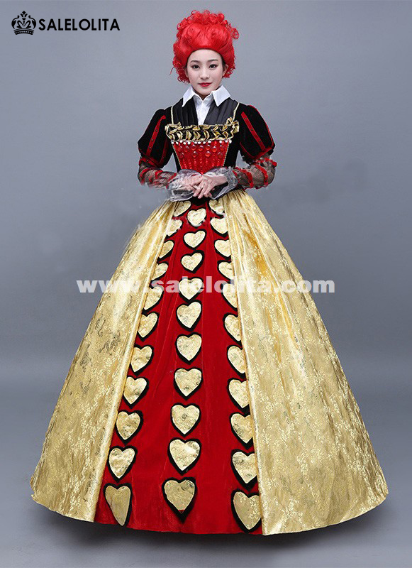 Brand New Alice in Wonderland The Red Queen Cosplay Dress Halloween ...