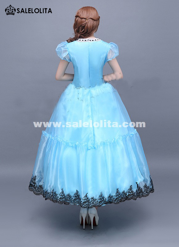 Brand New Disney Alice in Wonderland Costume Blue Alice Kingsleigh Cosplay Dresses