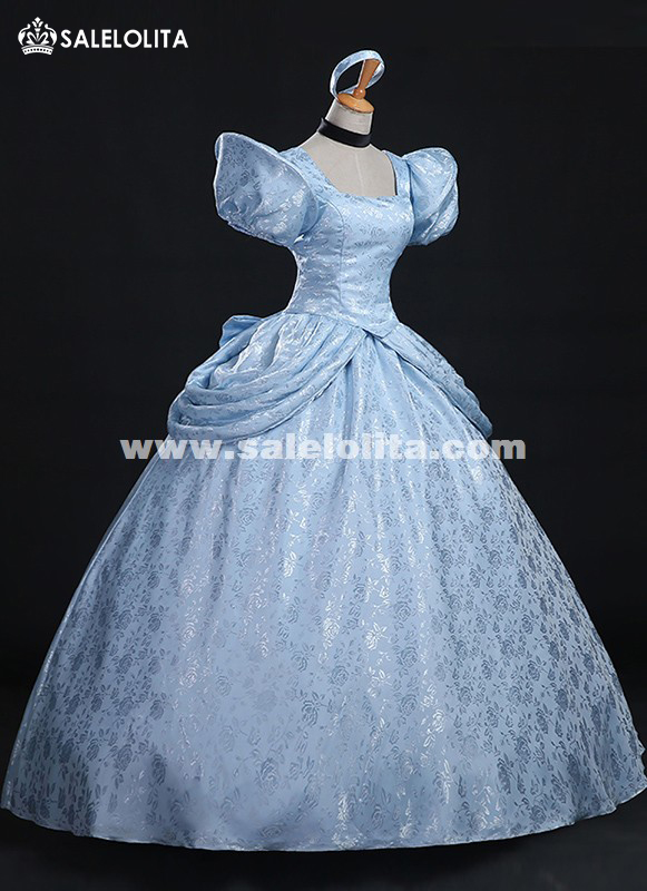 High Quality Disney Cinderella Costume Brocade Printed Princess ...