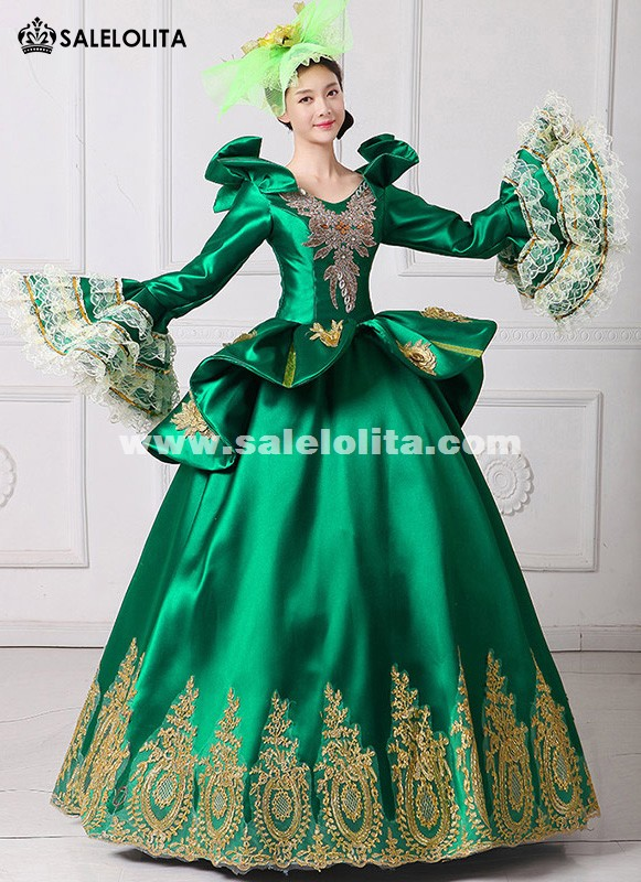 2017 Royal Green Embroidery Vampire Queen Masquerade Ball Gown Marie ...