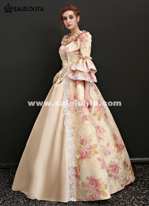 Upscale Medieval Wedding Dress Masquerade Carnivale Gowns Theater Clothing