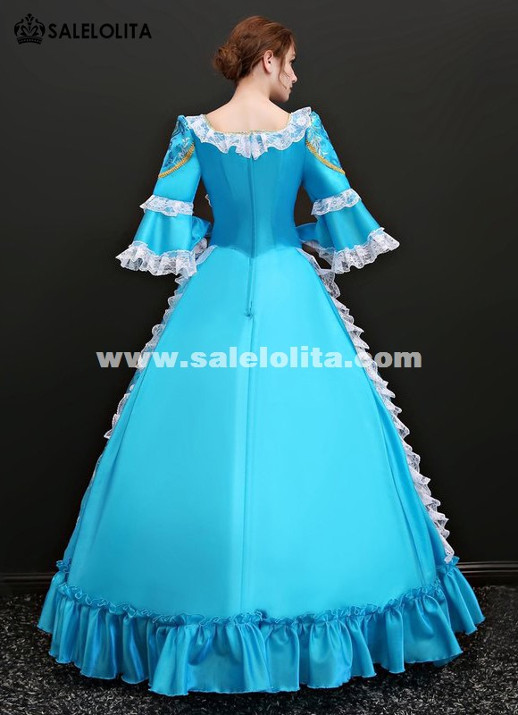 Renaissance Colonial Princess Holiday Ball Gown Dress Marie Antoinette Theater Clothing