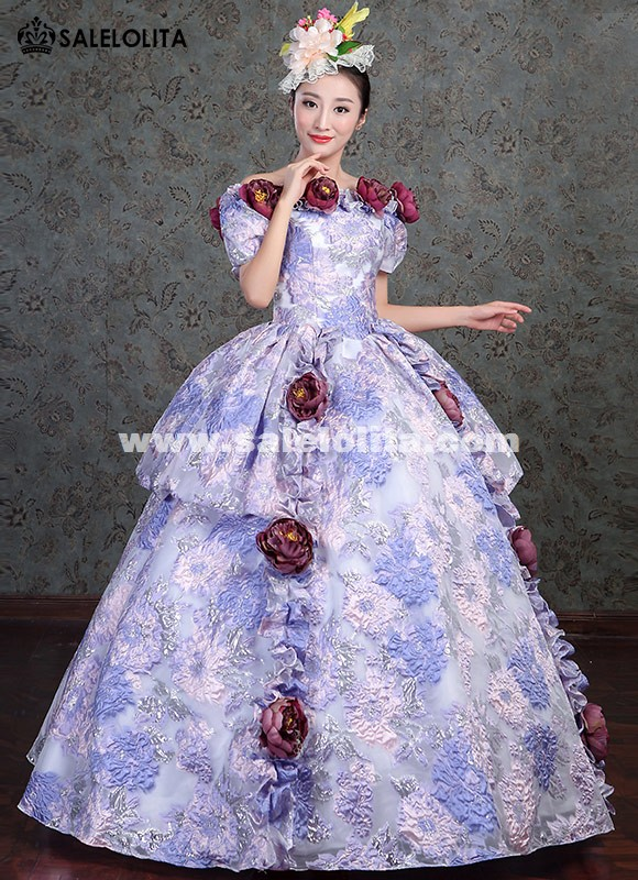 Victorian Gothic Wedding Dress Fairy Princess Masquerade Party Ball Gown Period Dress Reenactment Theater Clothing