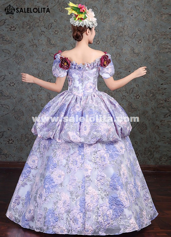 Victorian Gothic Wedding Dress Fairy Princess Masquerade Party Ball Gown Period Reenactment Theater Clothing