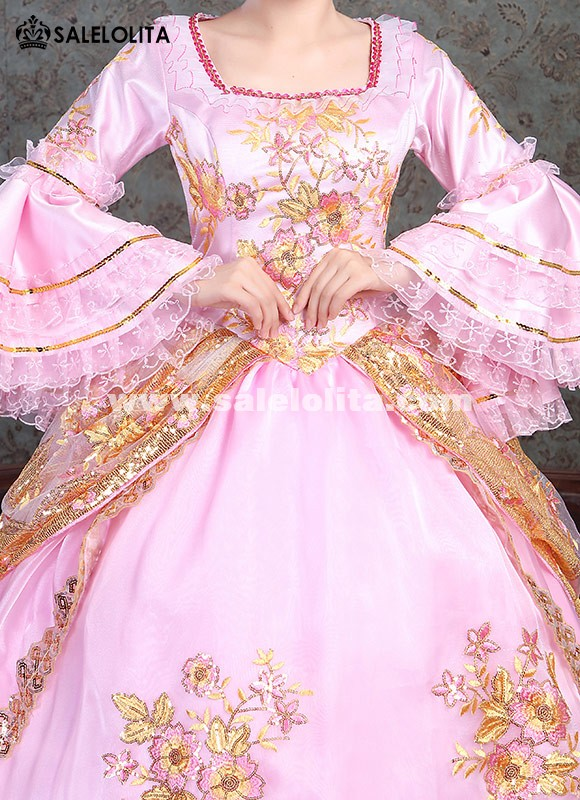 Victorian Belle Princess Pink Dress Alice in Wonderland Dress Women Christmas Costume