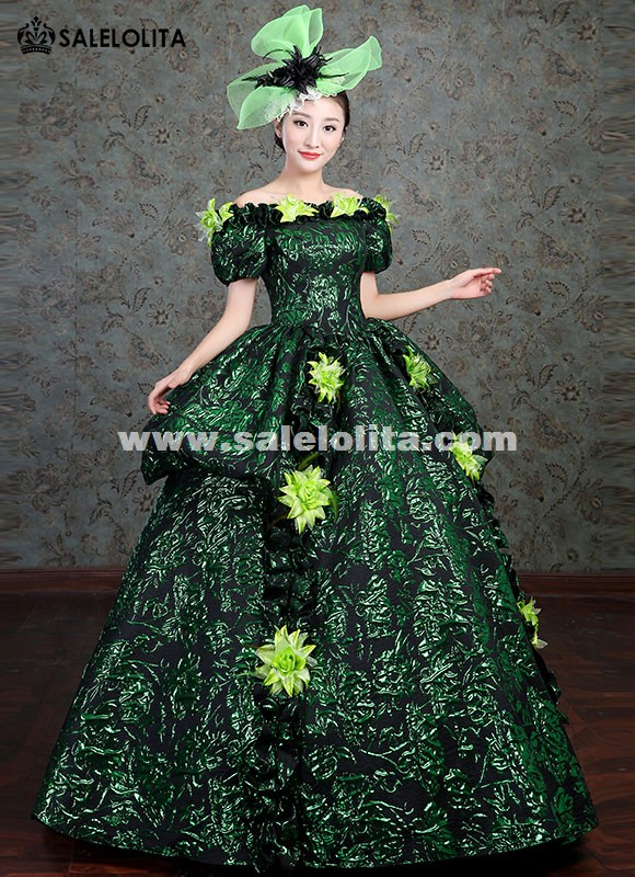 Upscale Marie Antoinette Gowns Victorian Vintage Green Dress ...